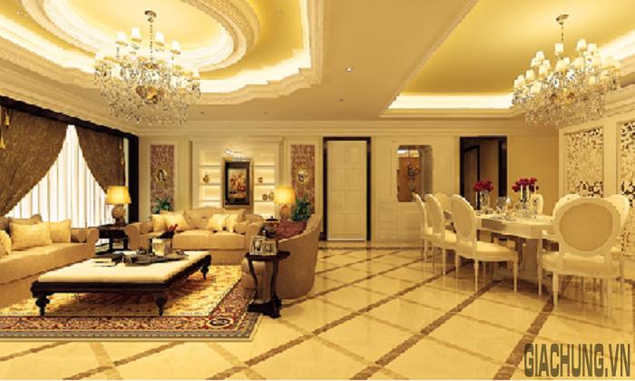 Phòng khách mang đậm phong cách cổ điển