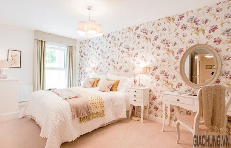 Tổng thể căn phòng ngủ trang trí đơn giản nhưng thu hút