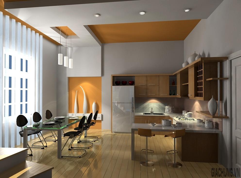 Thiết kế trần nhà phòng ăn
